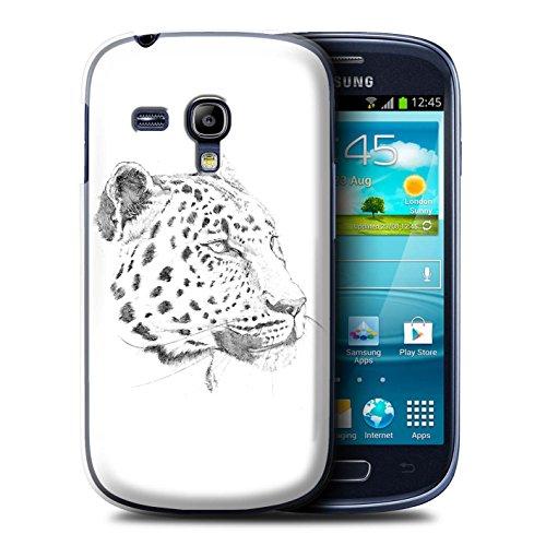 Stuff4 Hülle / Hülle für Samsung Galaxy S3 Mini / Leopard Muster / Skizze Zeichnung Kollektion (4s Box Samsung Galaxy Mini Otter)