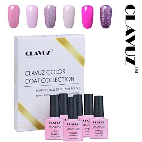 Smalto semipermanente smalto per unghie in gel uv led 6pcs kit manicure semipermanente gift set soakoff 10ml de clavuz - 004