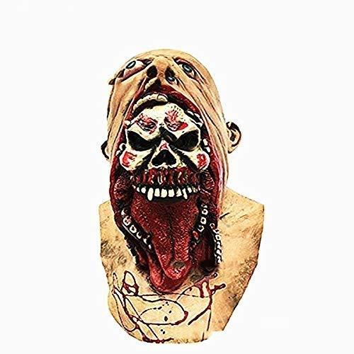 Kostüm Fäulnis Erwachsene Für - Xiao-masken Maske Maskerade Prom Maske Halloween Maske - Gesicht Blutige Fäulnis Maske Halloween Weihnachten Latex Maske Kopfbedeckung (Farbe: Fleisch)
