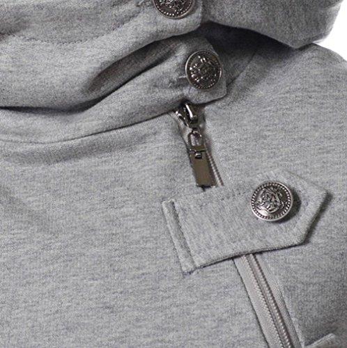 Sommer Cool Sport Button Dekoration T-Shirt für Herren, Amlaiworld Causal Kurzarm Bluse Gray