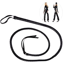 Tinksky 1.6m Catwoman Whip para Halloween (Negro)