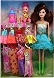 #10: Baby Doll with Dresses and Accessories for Girls by Wishkey|Fashion Doll Set Toy with Clothes|Doll Set Under Rs 500|Beautiful Multicolor Stylish Designer Dresses Playset|Doll Set in Low Price