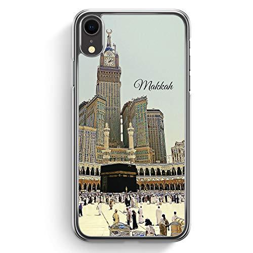 Panorama Makkah Mekka - iPhone XR Hardcase Hülle Cover - Motiv Design Islam Muslimisch Schön - Transparente Durchischtige Handyhülle Schutzhülle Case Schale