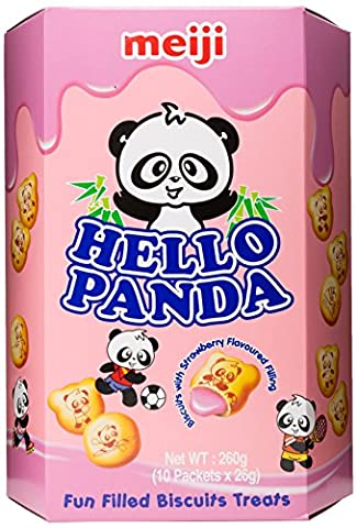 Meiji Hello Panda Biscuits with Creamy Strawberry Filling 260