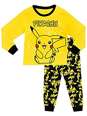 Pokemon - Pijama para Niños - Pikachu - 8 - 9 Años