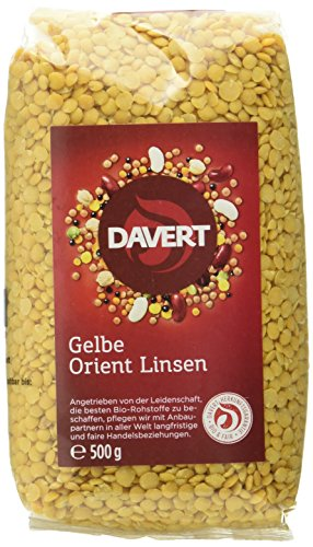 Davert Gelbe Orient Linsen Bio, 500 g