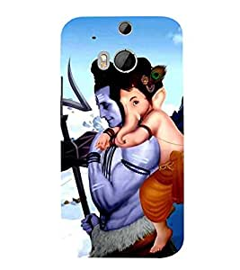Vizagbeats ganesh on shiva back Back Case Cover for HTC One M8::HTC M8