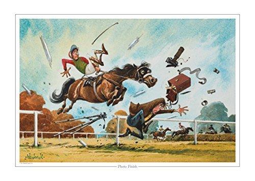 horse-racing-finition-photo-imprime-imprime-de-norman-thelwell-collector-copie-de-peinture-originale