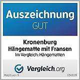 Kronenburg Mehrpersonen Hängematte mit Fransen 320 x 160 cm – Belastbarkeit bis 300 kg - 2