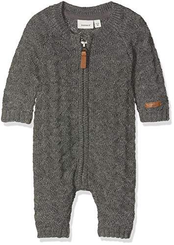 NAME IT Baby-Jungen Spieler NBMWRILLA Wool LS Knit Suit NOOS, Grau Dark Grey Melange, 56