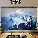 3d wallpaperStile cinese Zen inchiostro paesaggio pineta TV divano sfondo muro grande murale soggiorno orizzontale carta da parati murale(150x105cm)