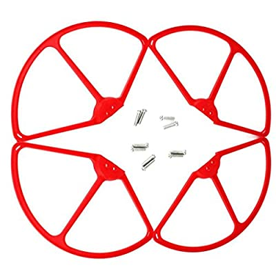 MagiDeal Red 4 Pieces RC Drone Propeller Airscrew Guards Frame with Screws for Cheerson CX20 Quadcopter Spare Parts by MagiDeal