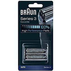 Braun Cassette 32S Pièce de Rechange pour Series 3 Rasoirs Argent