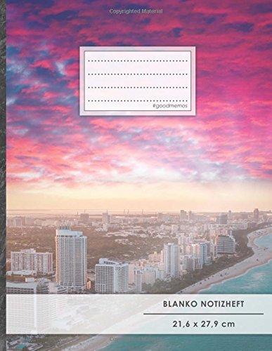 """Blanko Notizbuch • A4-Format, 100+ Seiten, Soft Cover, Register, """"Küste"""" • Original #GoodMemos Blank Notebook • Perfekt als Zeichenbuch, Skizzenbuch, Sketchbook, Leeres Malbuch"""
