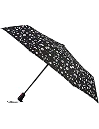 Totes X-tra Strong Automatic Wind Resistant Ladies Folding Umbrella - Dotty Daisy Floral