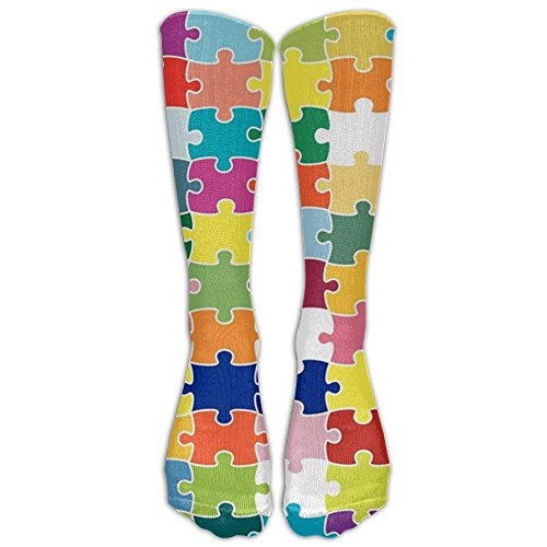 New Autism Awareness Child Puzzle Knee High Graduated compression-socks For Women And Men - Best Medical, Nursing, Travel & Flight Socks - Running & Fitness
