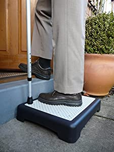 TheBigShip® Non Slip Outdoor Step Half Step instantly reduces height of doorsteps. Mobility Aid.