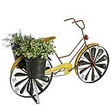 Blumenfahrad für Garten aus Metall Dekofahrrad Blumenständer Fahrad