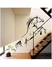 Kayra Decor Plastic Sheet Running Horse Reusable Wall Stencil, 50x55-inches (Multicolour)