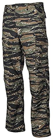 BDU Ripstop Mens Military Pants Army Combats Cargo Trousers Tiger Stripe (Vietnam Tiger Stripe)
