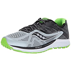buy online c8082 8f6c5 Saucony Ride 10, Zapatillas de Running para Hombre, (Grey Black Lime