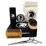 Spartan Beard Co | Kit de soins et d'entretien de la barbe | Comprend une huile de barbe, ainsi...