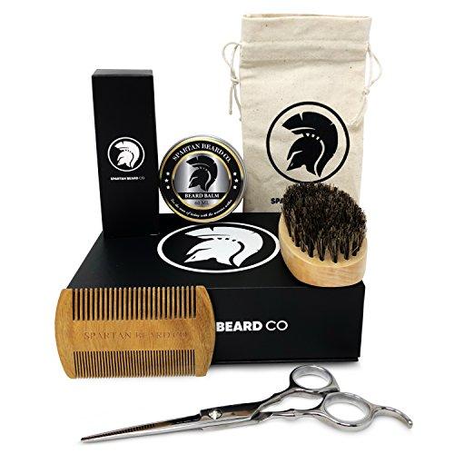 Spartan Beard Co | Kit de soins et d'entretien de la barbe | Comprend une huile de...