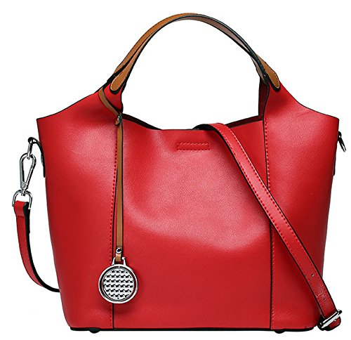 Xinmaoyuan Sacs à main pour Femme Sac à main en cuir Sac en cuir sac de messager d'épaule de dames Red