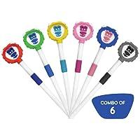 Buddsbuddy Combo of 6 Leo Kids Tongue Cleaner, 6 Pcs, BB3015 Multi Color