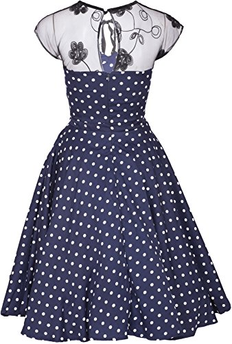 Küstenluder KESHIA Polka Dots Vintage Lace Punkte SWING Dress Kleid Rockabilly -