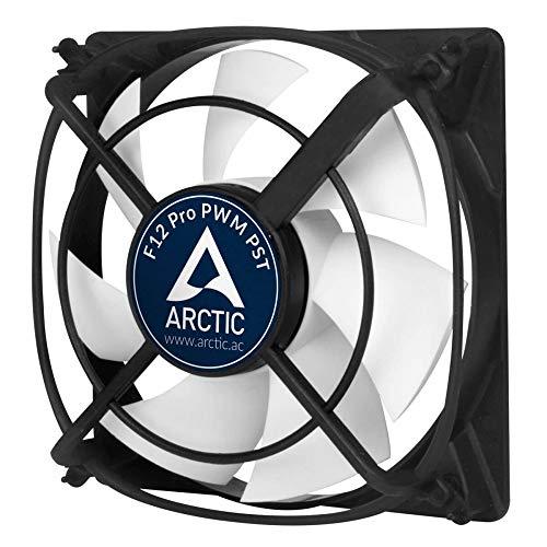 ARCTIC F12 Pro PWM PST - 120 mm, Ventilateur Haute Performance, Ventilateur Boitier, Refroidisseur Silencieux pour Unité Centrale, Support Anti-Vibration, Fonction de Partage PST, 500-1500 RPM