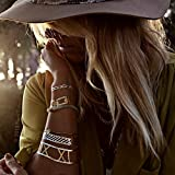 Original FLASH TATTOOS - Die beliebten Gold Tattoos der Stars aus USA - Temporäre Tattoos (Josephine)