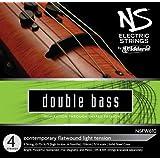 D'Addario Bowed Jeu de cordes moderne pour contrebasse D'Addario NS Electric, manche 3/4, tension Medium