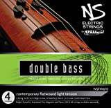 D\'Addario Bowed Jeu de cordes moderne pour contrebasse D\'Addario NS Electric, manche 3/4, tension Medium