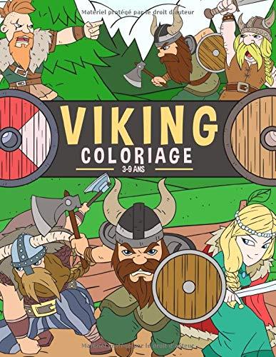 Coloriage Viking 3-9 Ans: Livre de coloriage pour enfants | Coloriage de Mythologie Nordique