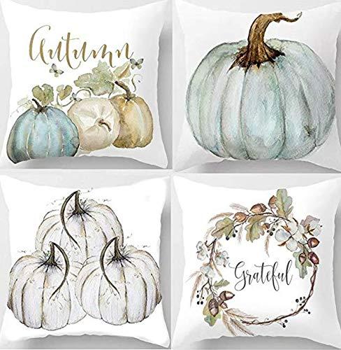 Halloween Party Set 45 * 45cm Halloween Kürbis kurzen Plüsch Hauptdekoration Pillowcase 4 Installation (1,2,3,4 Absatz je 1) für Festival Cosplay Halloween Kostüm