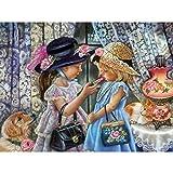 Xinantime DIY Peinture en Diamant 5D DIY Diamond Painting Strass Complet Broderie kit Canevas Chambre Maison Salon café librairie Peinture à la Main Diamant Kits décoration