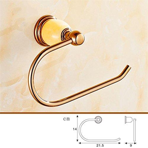 In stile europeo, oro tovagliolo anello di giada bagno in oro rosa portasciugamani asciugamani Rame Versione Hanging (3 colori) ( colore : C. ) - Oro Giada Anello