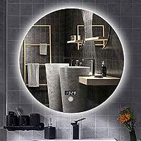 Espejos Pared Del Baño Luz LED Espejos De Pared Redondo Para Espejo De Maquillaje Baño Espejo Inteligente Antivaho.