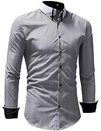 Betrothales Hombres Tops Camisetas Camisa Moderna Shirts Polo Manga Larga  Camis b668df4b2bf55