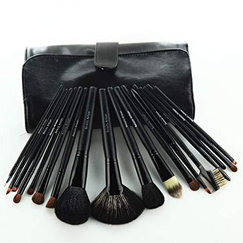 CC-Makeup Brush Maquillage Pinceau Professionnel Manche De Bambou Premium Synthétique Fondation Kabuki Mélange Blush Concealer Yeux Visage Poudre Liquide Crème Poudre Cosmétiques avec Sac
