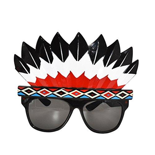 BESTOYARD Indian Party Sonnenbrille Indian Headdress Zubehör Urlaub Dance Ball Dress up Gläser