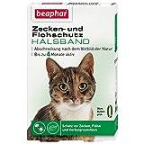 beaphar Zecken- & Flohschutz Halsband Katze | Schutz vor Zecken Flöhen | Wirkt 4 Monate | Katzenhalsband mit Sicherheitsverschluss | Farbe: Grün | Länge: 35cm
