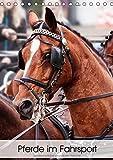 Pferde im Fahrsport (Tischkalender 2019 DIN A5 hoch): Fahrpferde im Viererzug vor dem Marathon-Wagen (Monatskalender, 14 Seiten ) (CALVENDO Tiere)