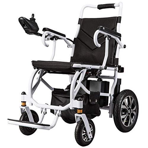 TWL-Wheelchair Intelligenter Elektrorollstuhl, 15 Kg Leicht Zusammenklappbar, bis zu 18 Km, Unterstützt 100 Kg, Motorisierte Rollstühle, die für Den Heim-, Reise- und Außengebrauch Geeignet -