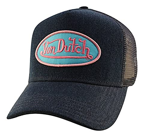 Von Dutch Unisex Logo Patch Trucker Hat-One Size