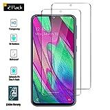 FengKS Vetro Temperato - per Samsung Galaxy A40 Pellicola Protettiva - [Adsorbimento Automatico/Senza Bolle d'aria ] [Anti-graffio] [Anti-Bolle] - [ 2 Pezzi ] Samsung Galaxy A40 Vetro Temperato