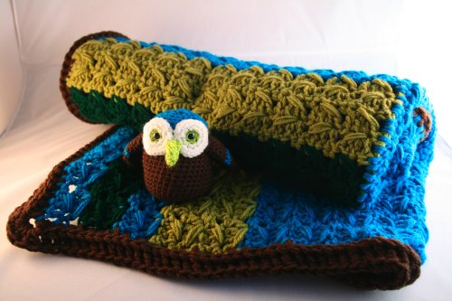 Crochet Pattern, baby blanket and amigurumi owl soft toy (Baby Blankets Book 1) (English Edition)