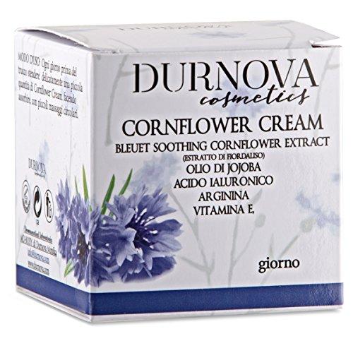 Creme natur mit Hydrosol-Kornblume, Jojoba-Öl, Vitamin E., Hyaluronsäure, Arginin. 50ml Made in Italiy - Kornblume-extrakt