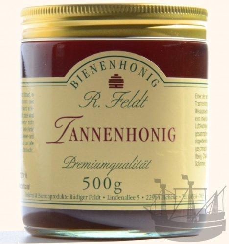 Tannen Honig, grünlich-schwarz, flüssig, herb, 500g -